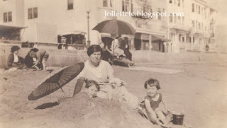 Relatives of Mary Theresa Sheehan Walsh, John Jr and Bob/Bobbie/Barbie at the beach 1921 or later http://jollettetc.blogspot.com