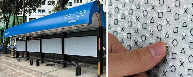 12. Playstation: Bus stop gaming ads