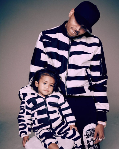 Photo: Chris Brown And Daughter, Royalty, Wear Matching Outfits
