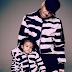 Chris Brown and his daughter, Royalty, wear matching outfits