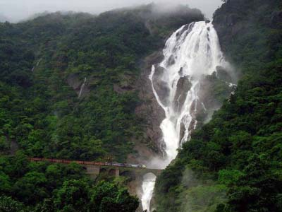 Dudhsagar waterfall - South Goa