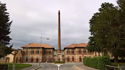 Factory entrance at Crespi d'Adda.