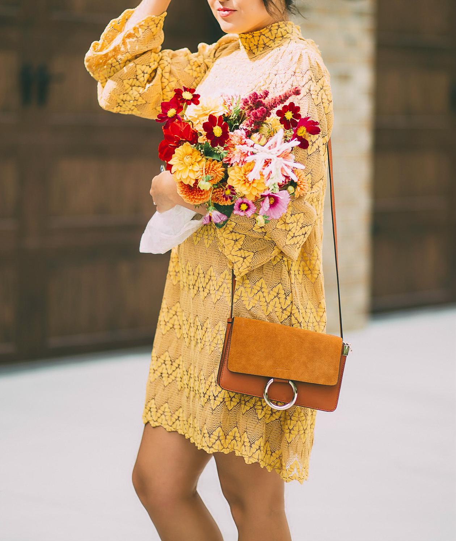 free people simone dress, mustard yellow dress, fall fashion, life and messy hair, xo samantha brooke, samantha brooke
