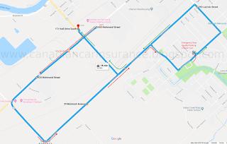 Chatham G (G2 exit) Test Route 1 Map Via Google Maps