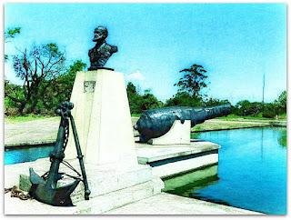 Marquês de Tamandaré, Canhão e Espelho d'água - Parque Marinha do Brasil