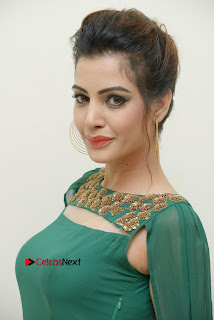 Actress Diksha Panth Latest Pictures in Green Dress at Banti Poola Janaki Audio Function 0009