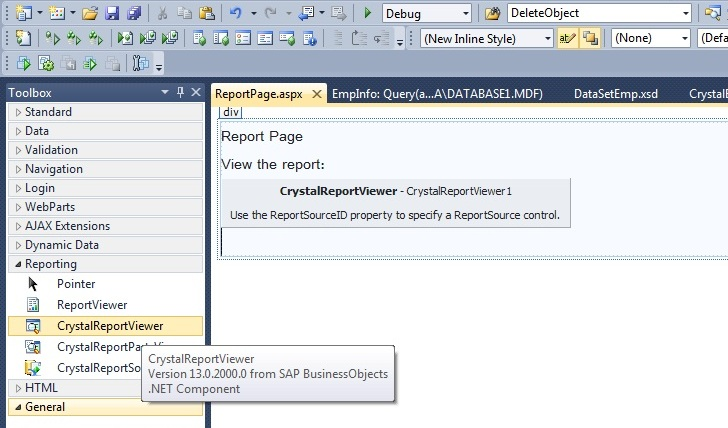How to add crystal report reference in visual studio 2013