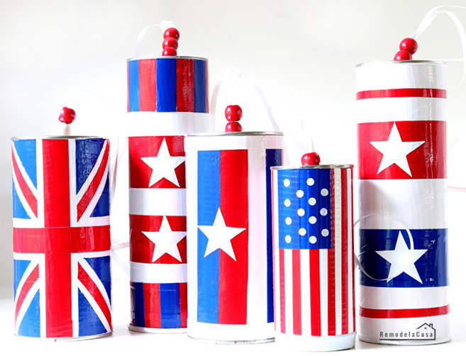 Upcycle tube containers into these beautiful windsocks