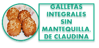 GALLETAS INTEGRALES SIN MANTEQUILLA, DE CLAUDINA