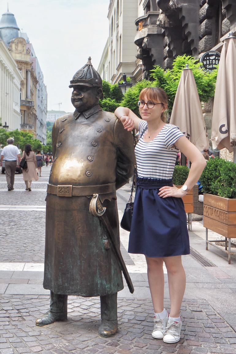 Statue dans les rues de Budapest
