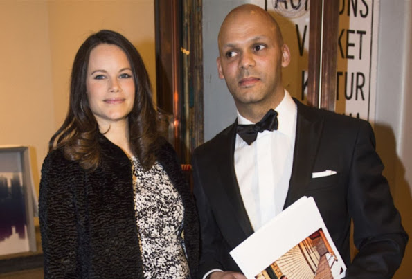 Princess Sofia of Sweden attended a charity dinner for the benefit of Project Playground at the Auktionsverket Kulturarena in Göteborg
