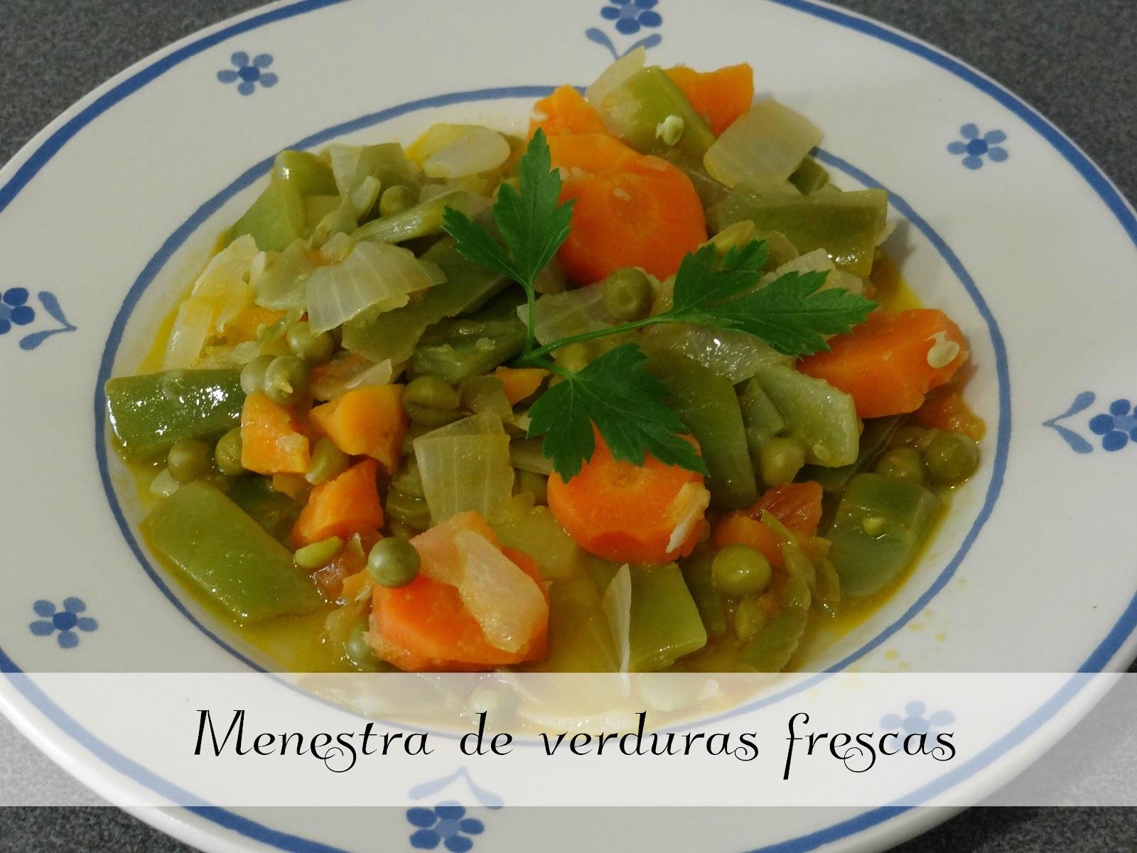 Pacto de tres menestra de verduras frescas - Menestra de verduras en texturas ...