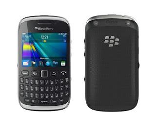 Blackberry curve 9320 warna hitam dengan design yang elegan dan menawan