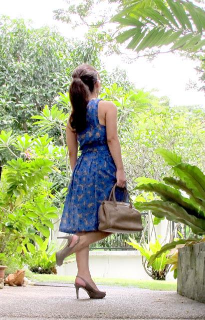 vintage-refashion-dress thrift makeover petite fashion