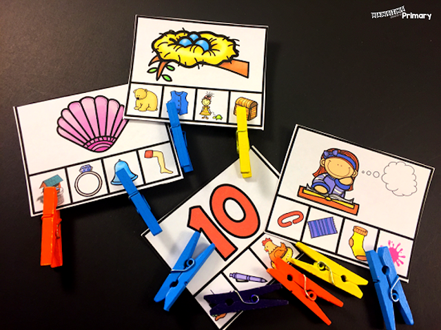 Use phonemic awareness centers such as rhyming centers to give students time to practice in guided groups or during independent center times.