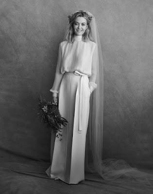 Marta Ortega con vestido de novia bohemio con bolsillos y carísimo también