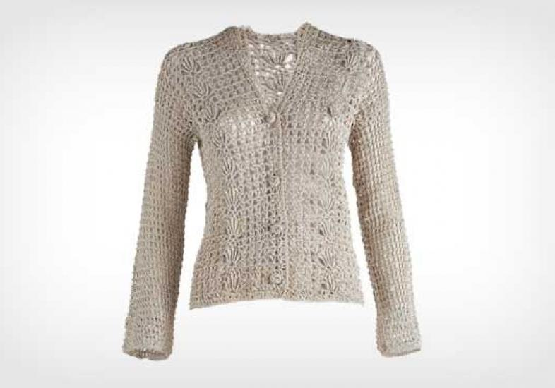 Beautiful cardigan with crochet pattern - Crochet Designs Free