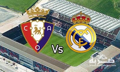 نتيجة مباراة ريال مدريد واوساسونا 3-1 اليوم 11-2-2017 في الليجا