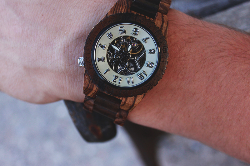 wooden watch, automatic watch, present for dad