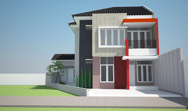 model terbaru rumah minimalis 2 lantai tampak depan