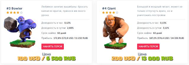Инвестиционные планы в экономической игре Clash Royale games