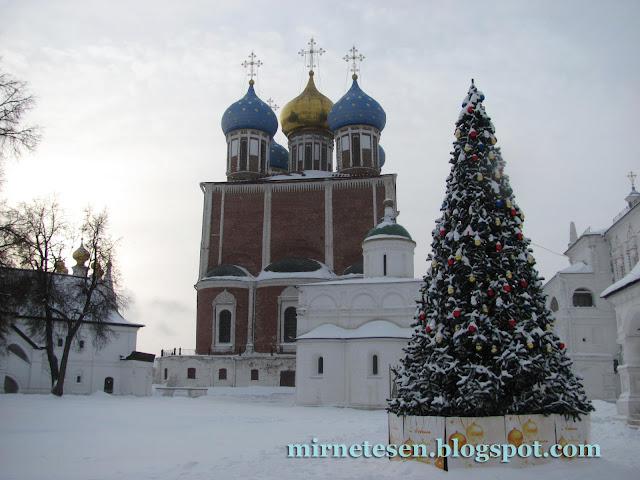 Заснеженная Рязань, русский колорит