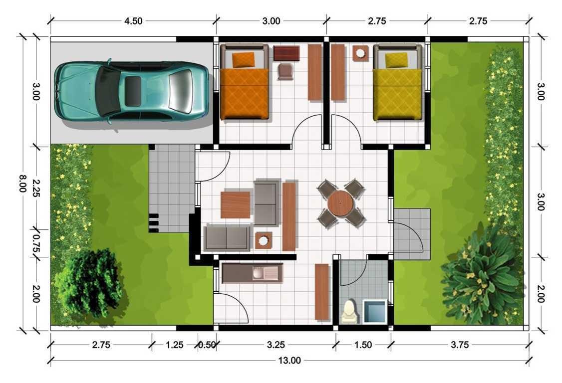 gambar denah rumah tipe 90 2