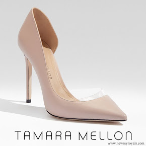Meghan Markle wore Tamara Mellon 'Siren' blush nappa leather pumps