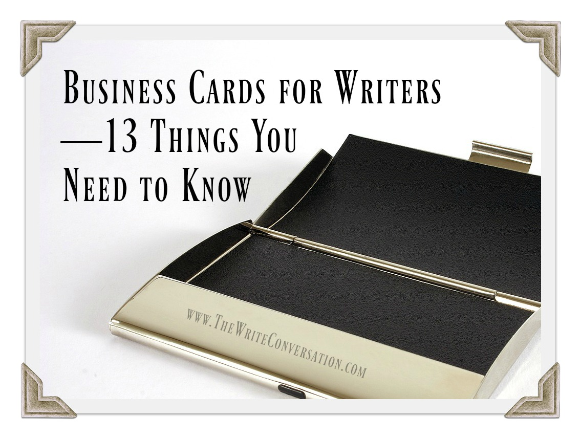 The write conversation business cards for writers13 things you business cards for writers13 things you need to know colourmoves