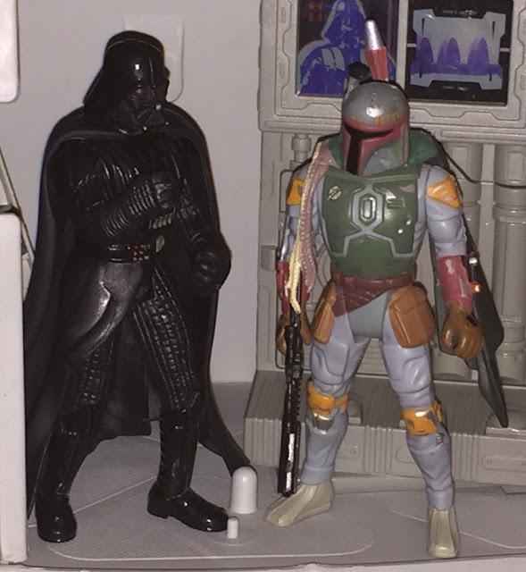 1995 POTFII Boba Fett, Darth Vader, AT-AT, Kenner