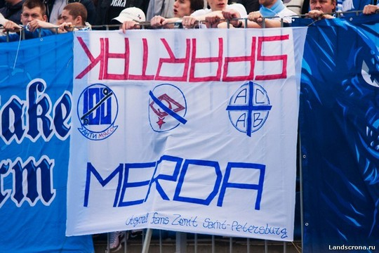 Sportlich Elegant Photo Video Matchreports Ultras Tifo Zenit St Petersburg Spartak Moskau 06 05 2012