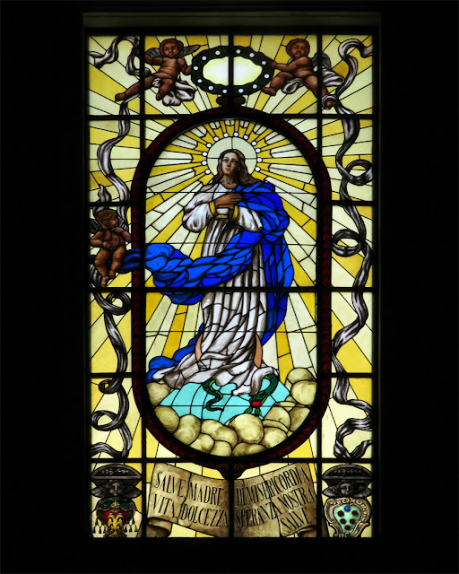 Stained glass window, church of the Madonna, Via della Madonna, Livorno