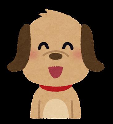 笑顔の犬のキャラクター