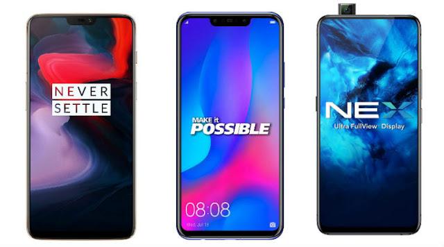 Best smartphones under Rs 45,000 for Diwali 2018: OnePlus 6, Huawei Nova 3 to Vivo Nex