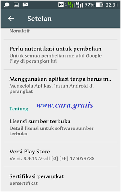 Play Store Versi Baru