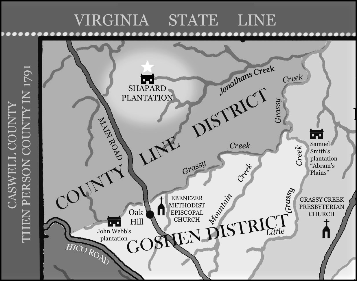 william shapard and county line district granville county north carolina