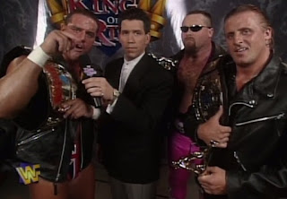 WWE / WWF - King of the Ring 1997 - Todd Pettengill interviews British Bulldog, Jim 'The Anvil' Neidhart and Owen Hart