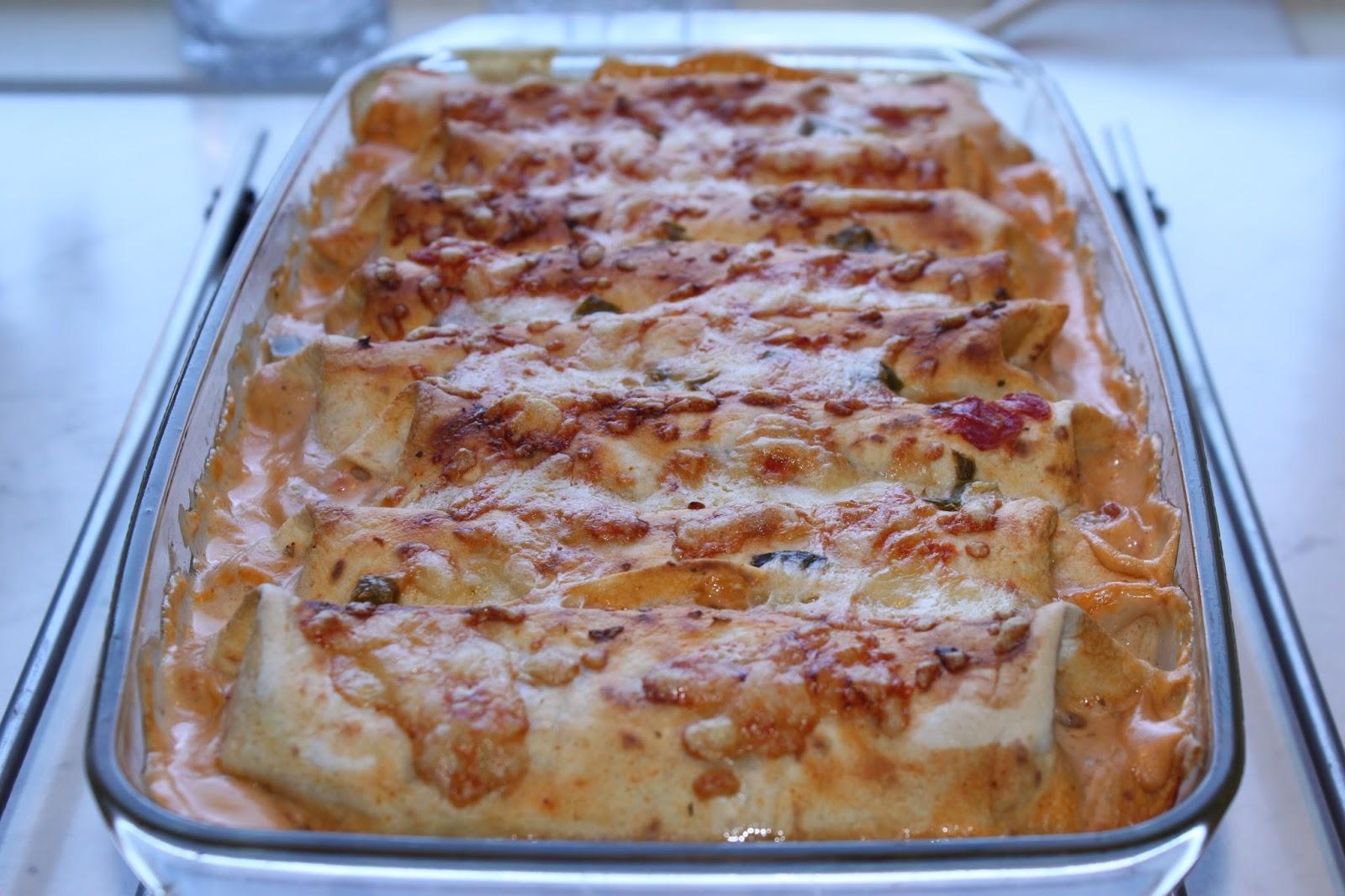 enchiladas med vegetarisk fyllning