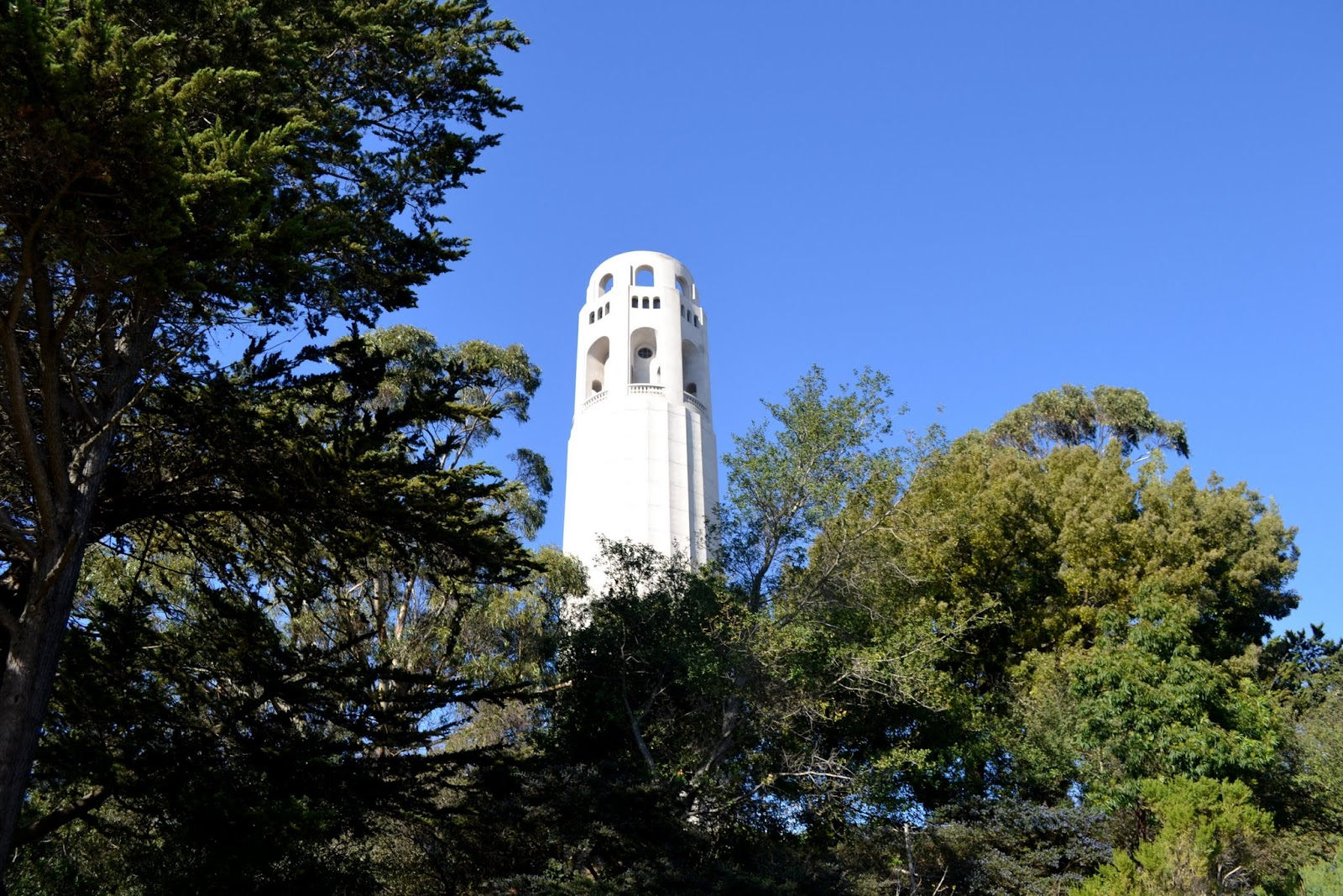 Башне Койт. Сан-Франциско, Калифорния. (Coit Tower, San Francisco, CA)