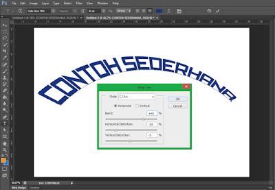 Cara Membuat Tulisan Melengkung di Photoshop 4