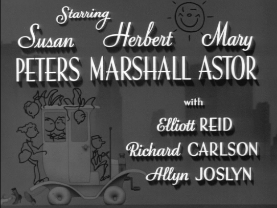 Susan Peters gets top billing next to Herbert Marshall and Mary Astor