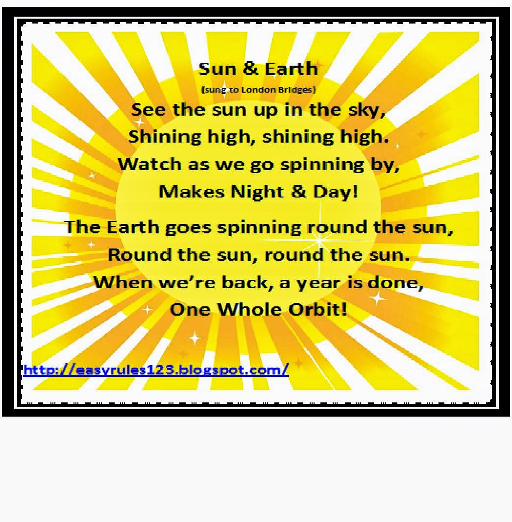 Easy Rules By Ems And Jules Solar System Unit Song