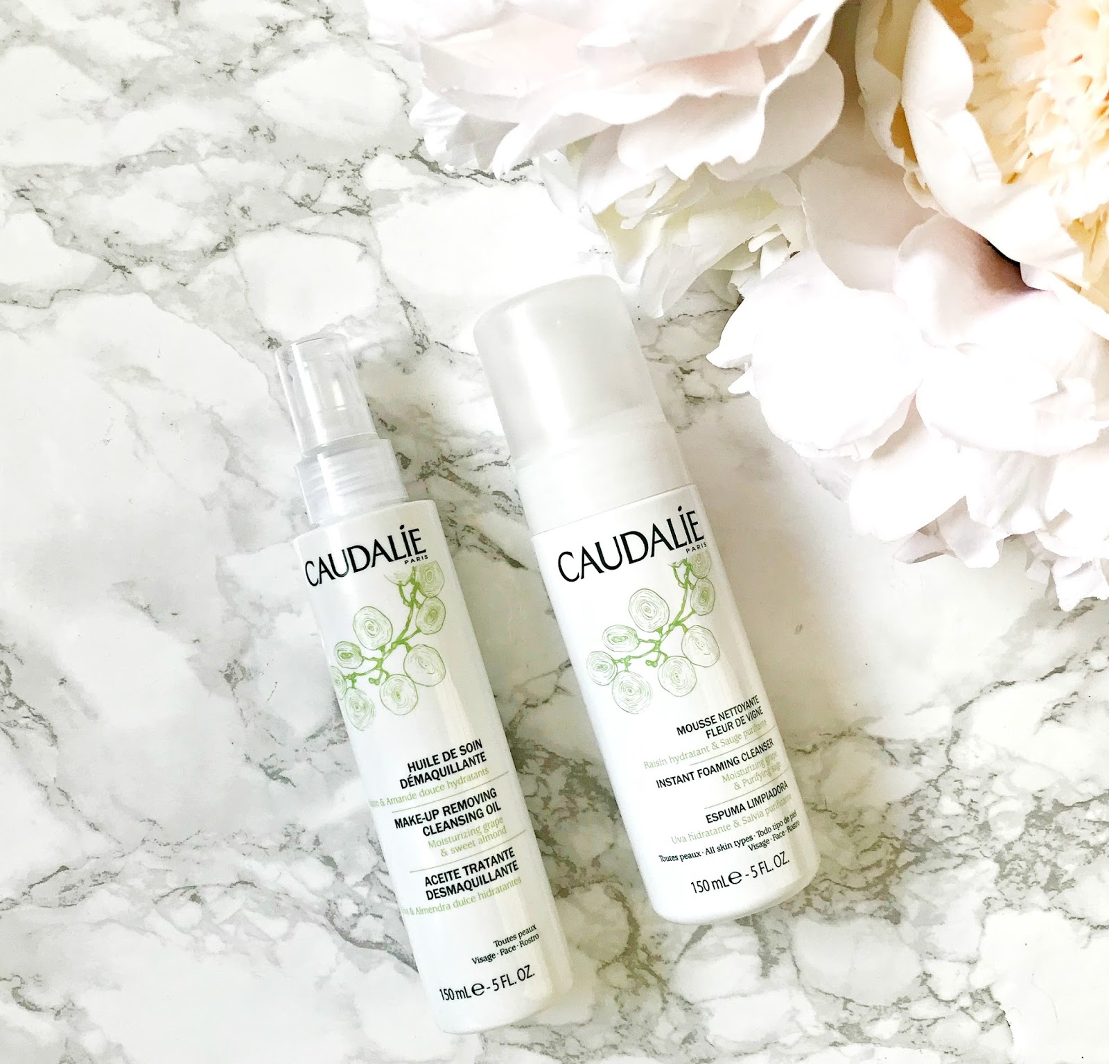 Caudalie Cleansing Oil Review, Caudalie Instant Foaming Cleanser Review