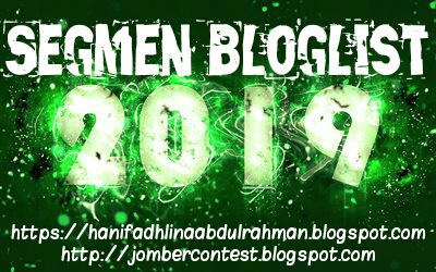 SEGMEN BLOGLIST 2019 oleh Jom Bercontest