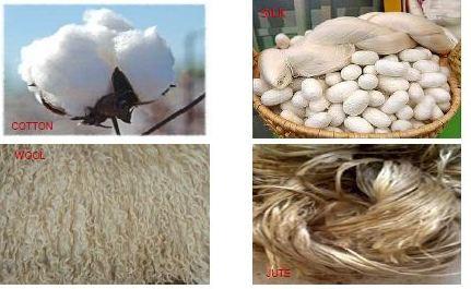 Different textile fiber