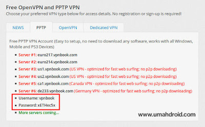 Get Free VPN Username and Password
