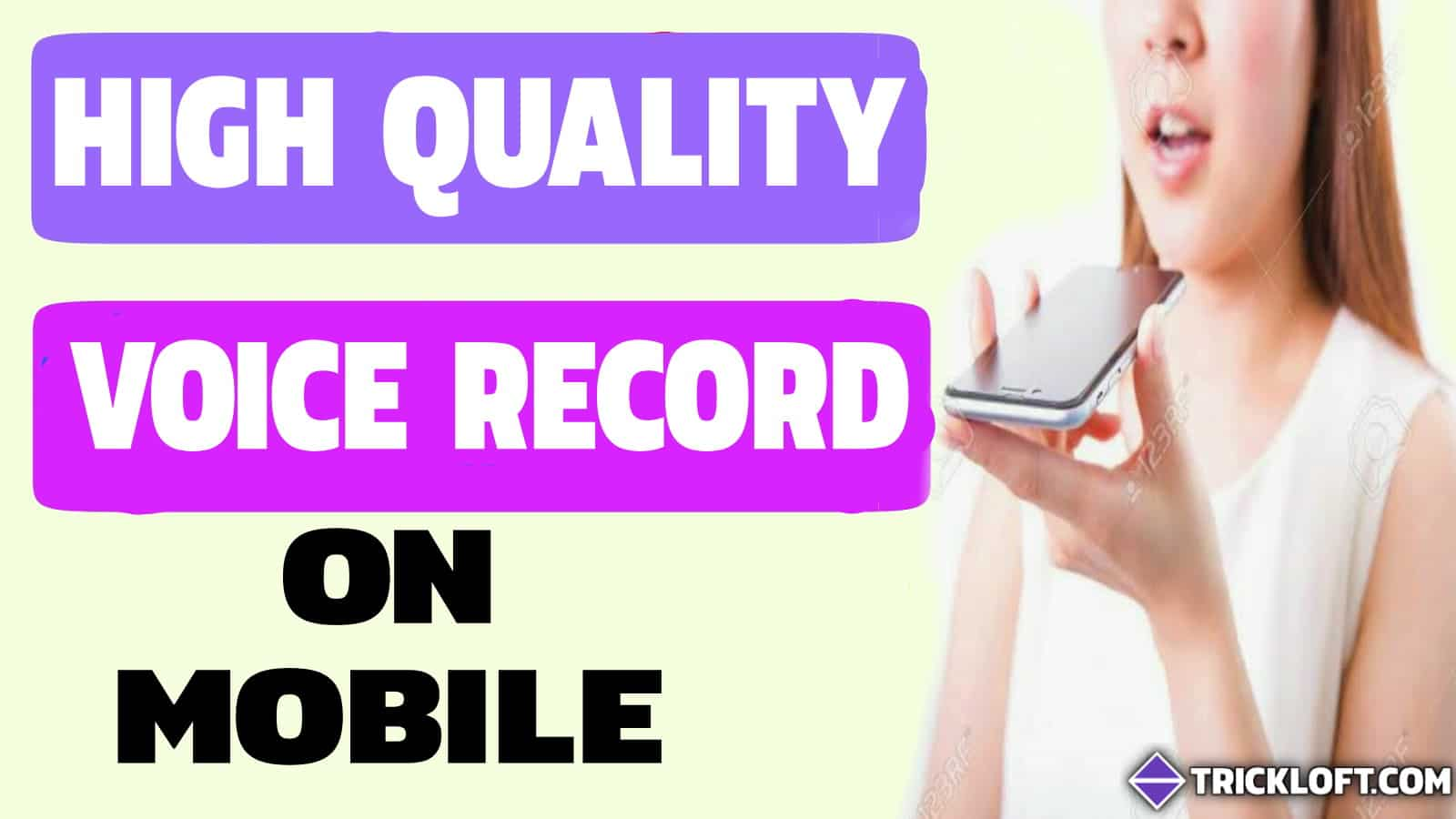 noise free voice record on mobile