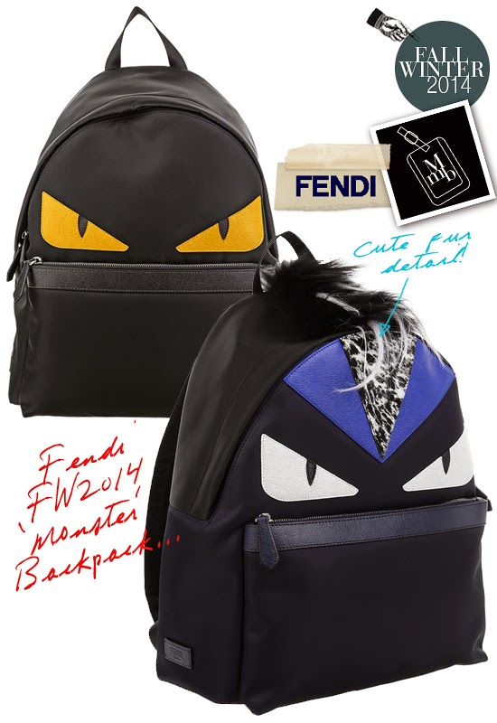 40134853365d myMANybags  Fendi Fall Winter 2014 Bag Bugs  Monster Eyes  Backpack