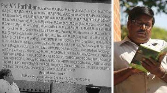 Wow Dosen di India Punya 145 Gelar yang Mengekor di Belakang Namanya!