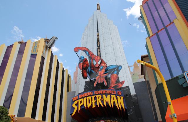 Aventuras do Spiderman no Islands Of Adventure em Orlando
